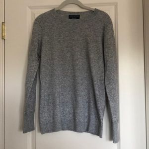 Comfy gray sweater.